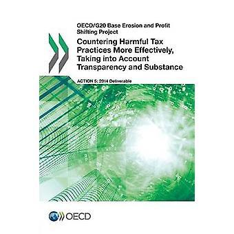 OECDG20 Base de erosão e lucro deslocando o projecto de luta contra as práticas fiscais prejudiciais mais eficazmente tendo em conta a transparência e a substância pela OCDE
