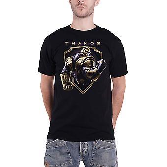 Vendicatori Endgame T Shirt Thanos distintivo Movie Logo nuovo ufficiale Mens Black