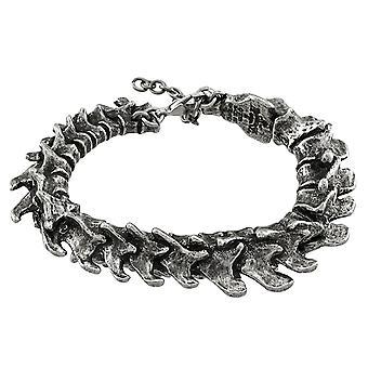 Alchemy Gothic Vertebrae Pewter Bracelet