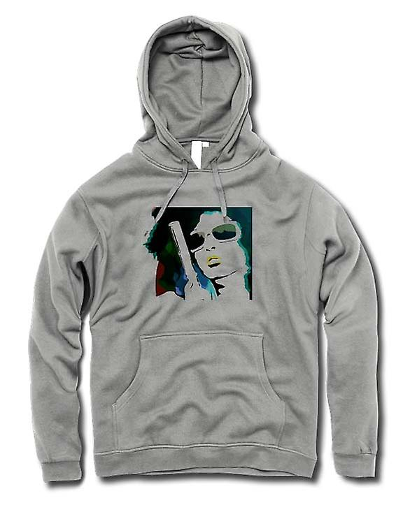 Mens Hoodie - Pop Art Girl With Pistol - Cool Art