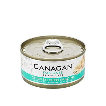 Canagan 75g Chicken With Sardines Cat Wet Food Can - 75g Can