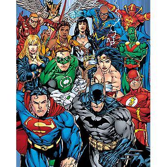 DC Comics Justice League Collage Mini plakat 40x50cm