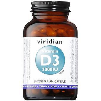 Viridian Vitamin D3 (Vegan) 2000iu Veg Caps 60 (274)
