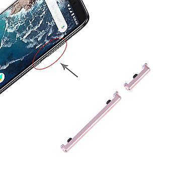 Botão de volume de energia rosa para Xiaomi mi 6X/a2 volume em off peça de reposição