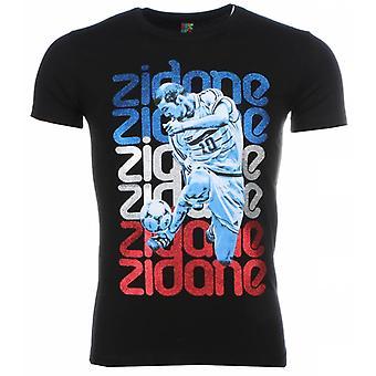 T-Shirt-Zidane Print-Black