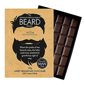 Grappige cadeaus voor Bearded mannen baard minnaar aanwezig chocolade wenskaart Oncocoa BTQ106