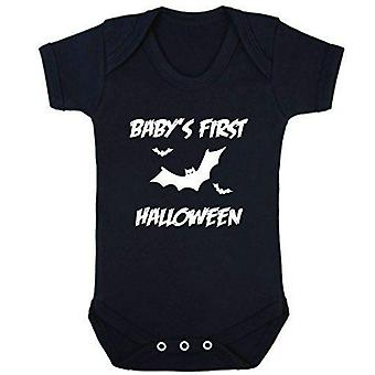 Baby-apos;s première halloween manches courtes babygrow