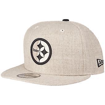 Uusi aika kausi 9fifty SnapBack Cap Pittsburgh Steelers Heather kaura