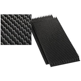 Acoustic foam (W x H) 100 cm x 50 cm Monacor MDM-40