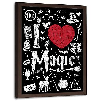 Picture In Brown Frame, Love Magic