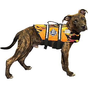 Paws Aboard Doggy Life Jacket Large-Racing Flames L1500-F1500