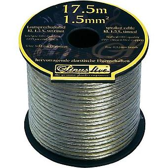 Speaker cable 1 x 1.50 mm² Silver Sinuslive KL-1,5S 17.5 m
