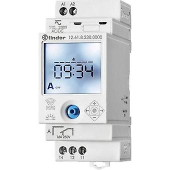 Operating voltage: 230 Vdc, 230 Vac Finder 12.61.8.230.0000 1 change-over