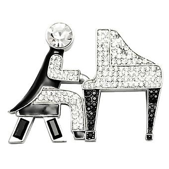 Butler  and  Wilson Vintage Crystal Piano Player Brooch