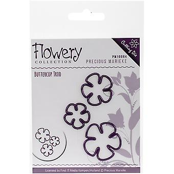 Find It Trading Precious Marieke Flowery Die-Buttercup Trio PM10064
