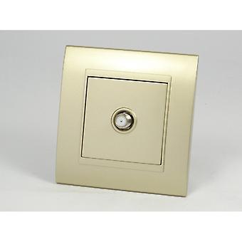 I LumoS AS Luxury Gold Plastic Arc Single Satellite Socket