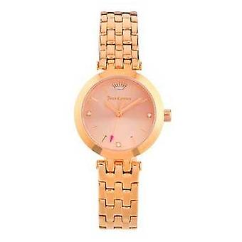 Juicy Couture Womens Cali Rose Gold Tone Stainless Steel Rose Gold Dial 1901460 Watch