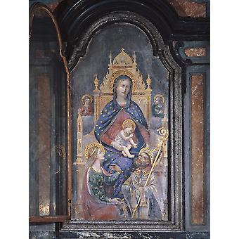 Madonnan och barnet med helgon affisch Skriv