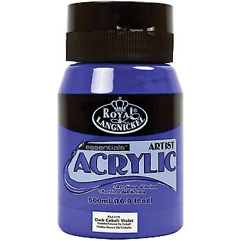 Essentials Acrylic Paint 16oz/Jar-Dark Cobalt RAA500-5115