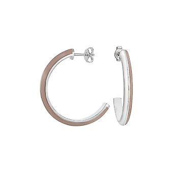 ESPRIT women's earrings Creole stainless steel Silver Marin 68 cappuchino ESER11113B000