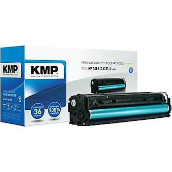 KMP Toner cartridge replaced HP 128A, CE321A Compatible Cyan 1300 pages H-T145
