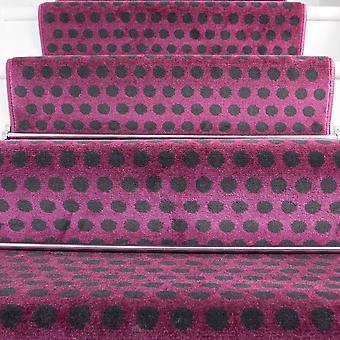 70cm Width - Modern Polka Dots Purple Stair Carpet