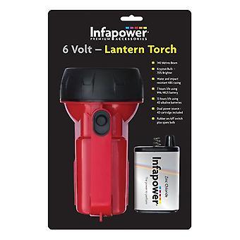 infapower 6 V Lantern lommelygte - rød