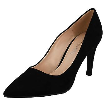 Ladies Anne Michelle High Heel Pointed Toe Court Shoes F9959