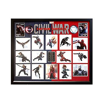 Captain America - Civil War Cast Signed Photo Collage Poster in Framed Case
