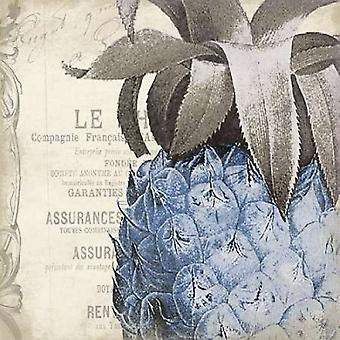 Pineapple Blue Poster Print by Jace Grey