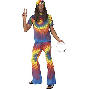 rainbow 60s men's Rainbow suit of flower power hippie costume