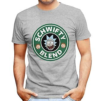 Rick And Morty Schwifty Blend Starbucks Logo Men's T-Shirt