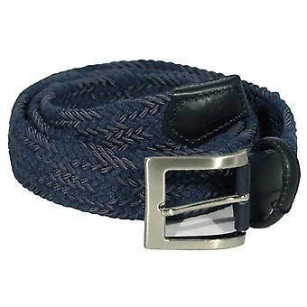40 Colori Double Threaded Elasticated Belt - Night Blue