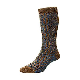 The Brimham warm men's wool boot sock in conker | By Scott-Nichol