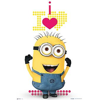 Minions - Heart Poster Poster Print