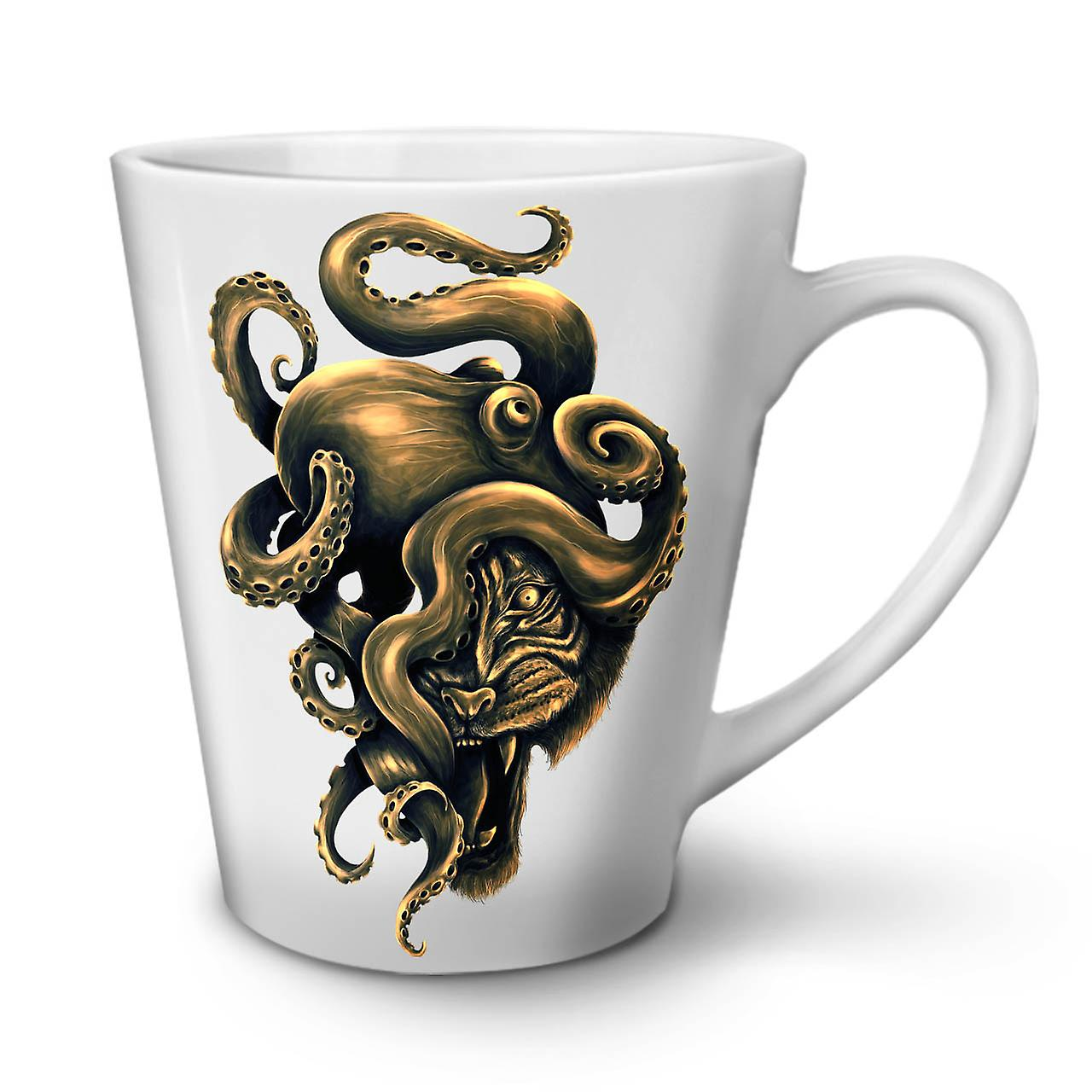 Tasse Céramique Poulpe OzWellcoda Face Latte Nouvelle Animal En Tiger 12 Blanche Café sxtQrhdC