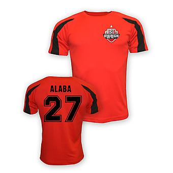 David Alaba Bayern Monachium sportowe szkolenia Jersey (czerwony)