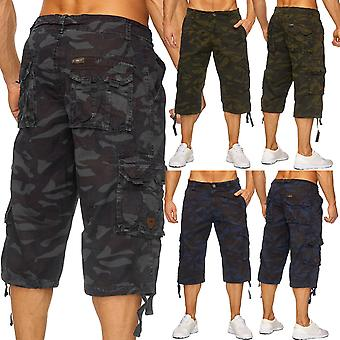 Men's camouflage 3/4 cargo Chino shorts army trousers camouflage Capri pants of bermudas