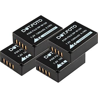 4 x Dot.Foto Fujifilm NP-W126 Replacement Battery - 7.2v / 1260mAh - 2 Year Warranty [See Description for Compatibility]