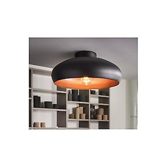 Eglo Mogano Open Bowl Black And Copper Ceiling Light