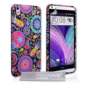 HTC Desire HD medusas Gel caso - multicolor