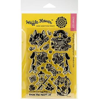 Gaufre fleur Crafts Clear Stamps 4