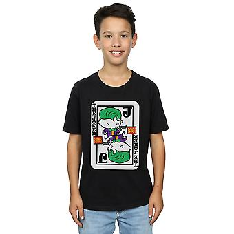 DC Comics Boys Chibi Joker Playing Card T-Shirt