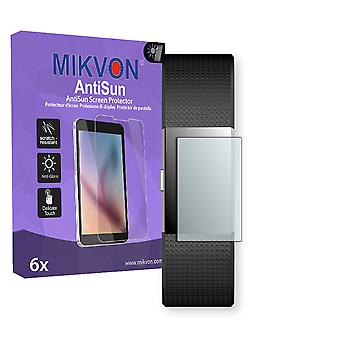 Fitbit Charge 2 Screen Protector - Mikvon AntiSun (Retail Package with accessories) (intentionally smaller than the display due to its curved surface)