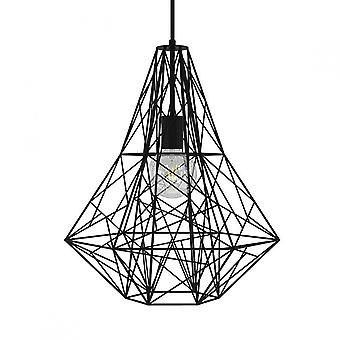 Birdnest Cage Pendant Light - Black