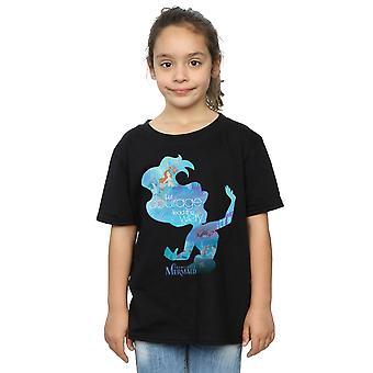 Disney Princess Girls Ariel Filled Silhouette T-Shirt