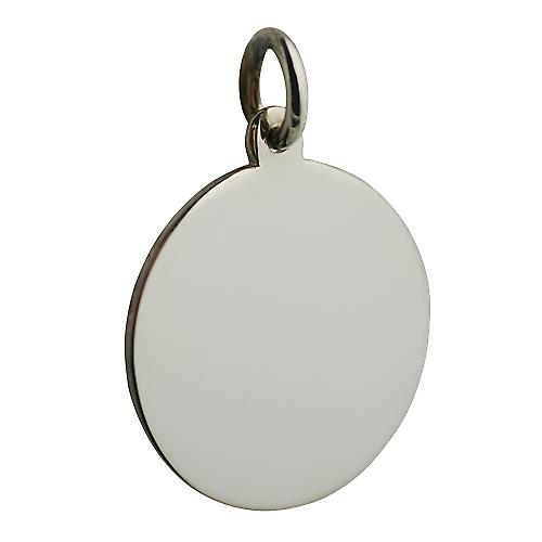 9ct or blanc 20mm ronde disque brut