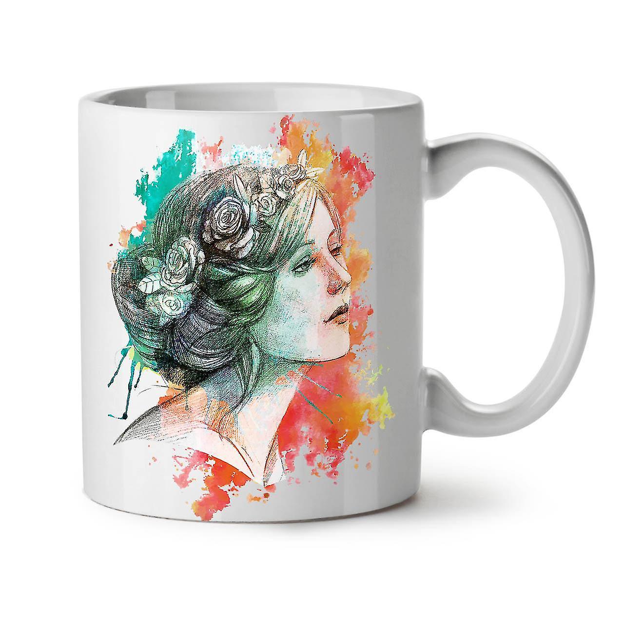 Blanc Femme Tasse Cool OzWellcoda Café Peinture Nouveau Céramique 11 Thé Y7gy6bf