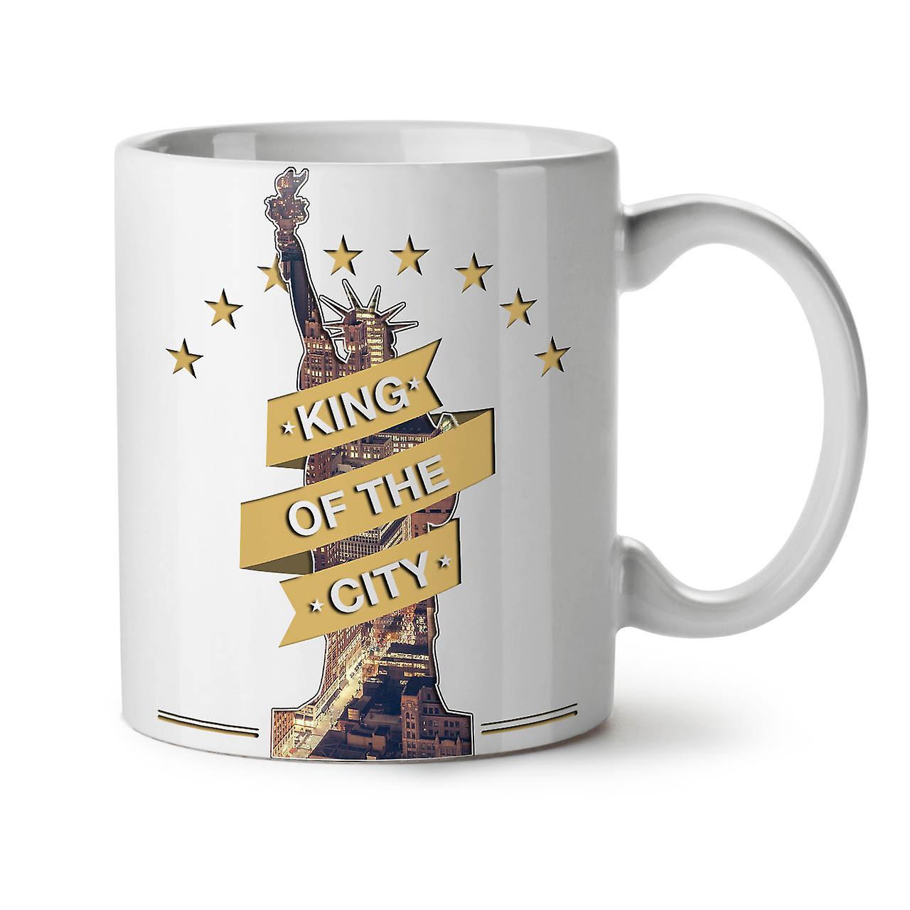 City Ceramic Freedom New 11 Tea Mug Coffee Statue OzWellcoda White uXZOPTwki