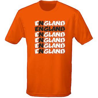 Inglaterra Cruz Funky futbol hombres camiseta 10 colores (S-3XL) por swagwear
